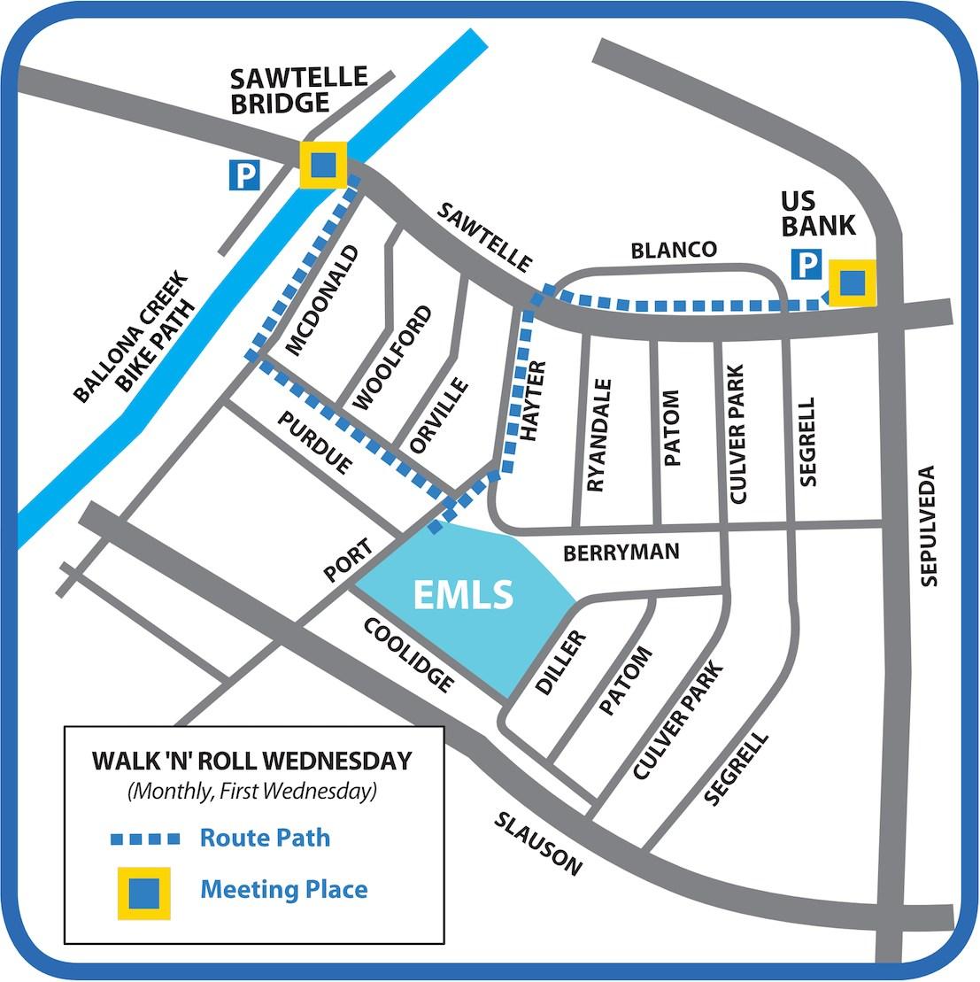 Walk 'n' Roll Wednesday Map