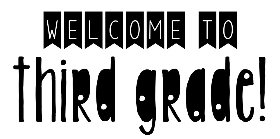 Image result for welcome third grade clip art