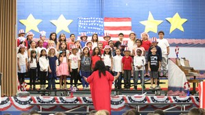Students singing at the Spring Concert