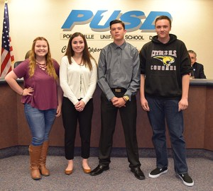 4 Citrus students at the PUSD board meeting