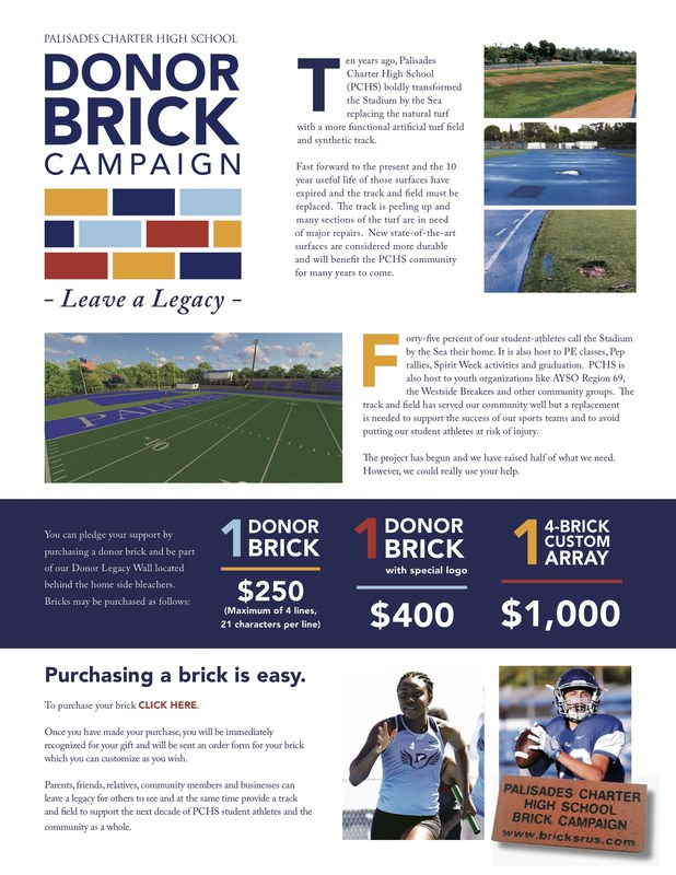 Leave a Legacy at Pali! Donate to the Brick Campaign! Thumbnail Image
