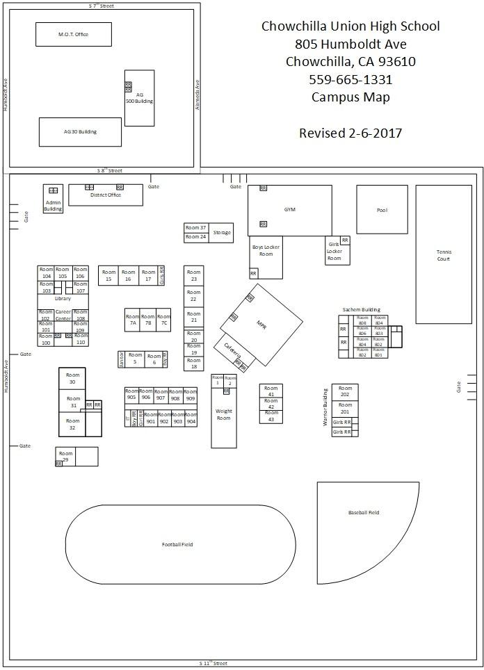 Chowchilla High School Map