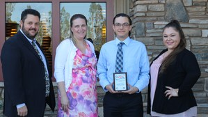 Robert Conner, Tahquitz's Student of the Month, with Principal, Teacher, and family