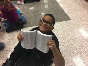 CCI third grade students get new dictionaries and students love them