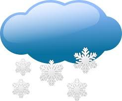 cloud with snow flakes