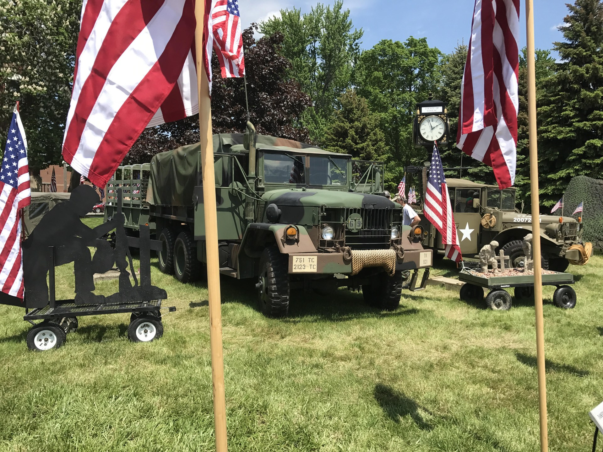 Army truck display.