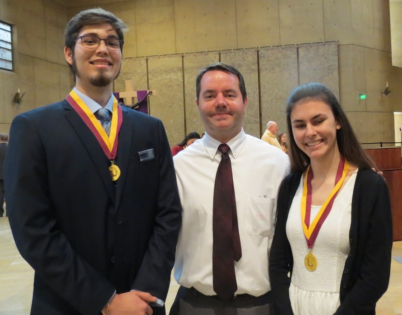 Emily Sanchez and Michael Ruther were honored for outstanding community service Thumbnail Image