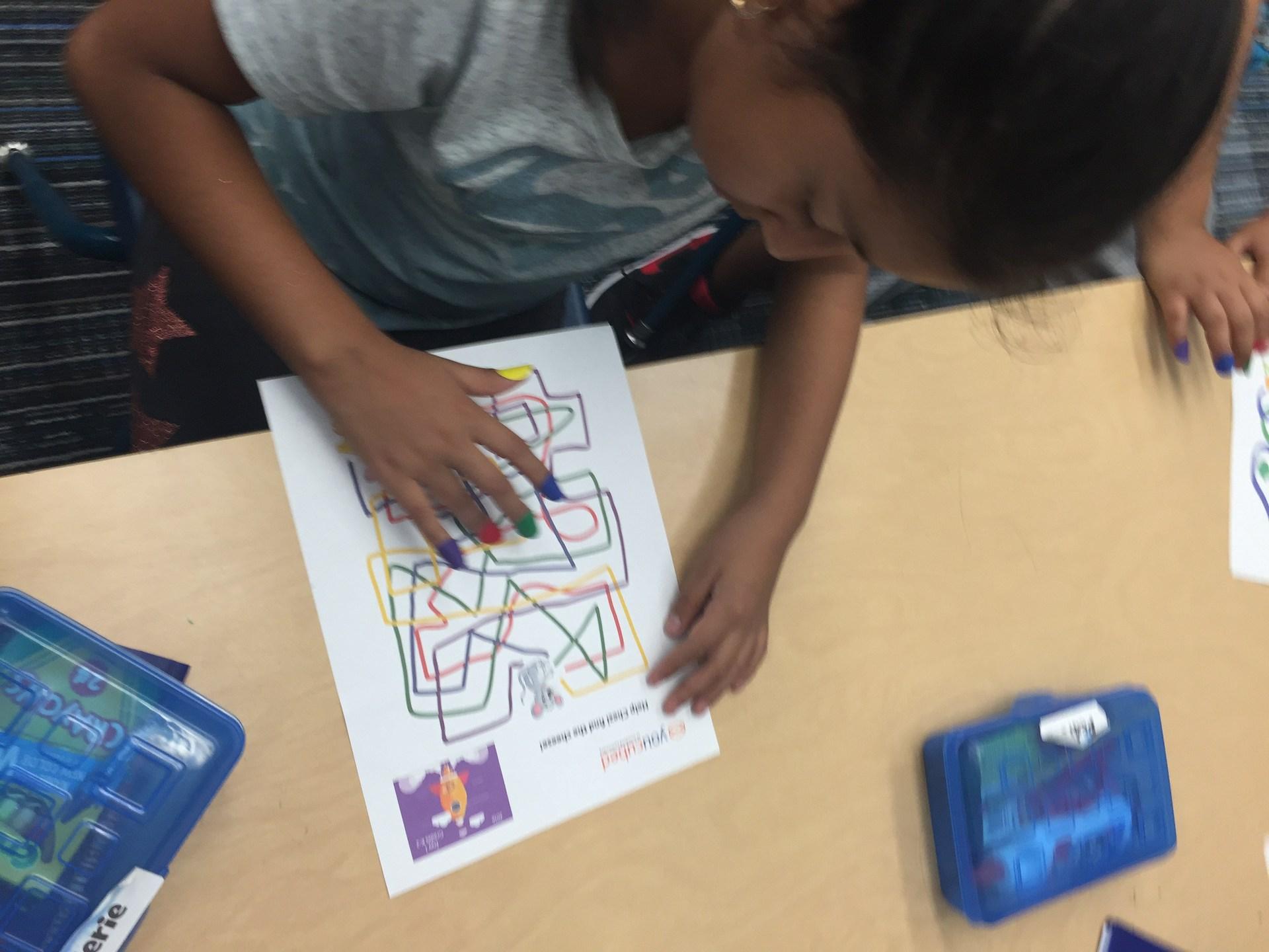 Math Finger Maze