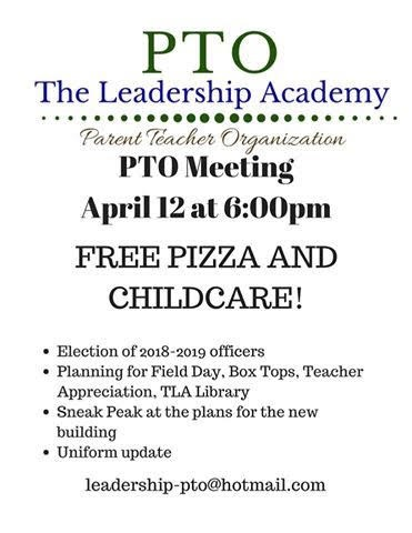 PTO Meeting - Thursday, April 12 Featured Photo