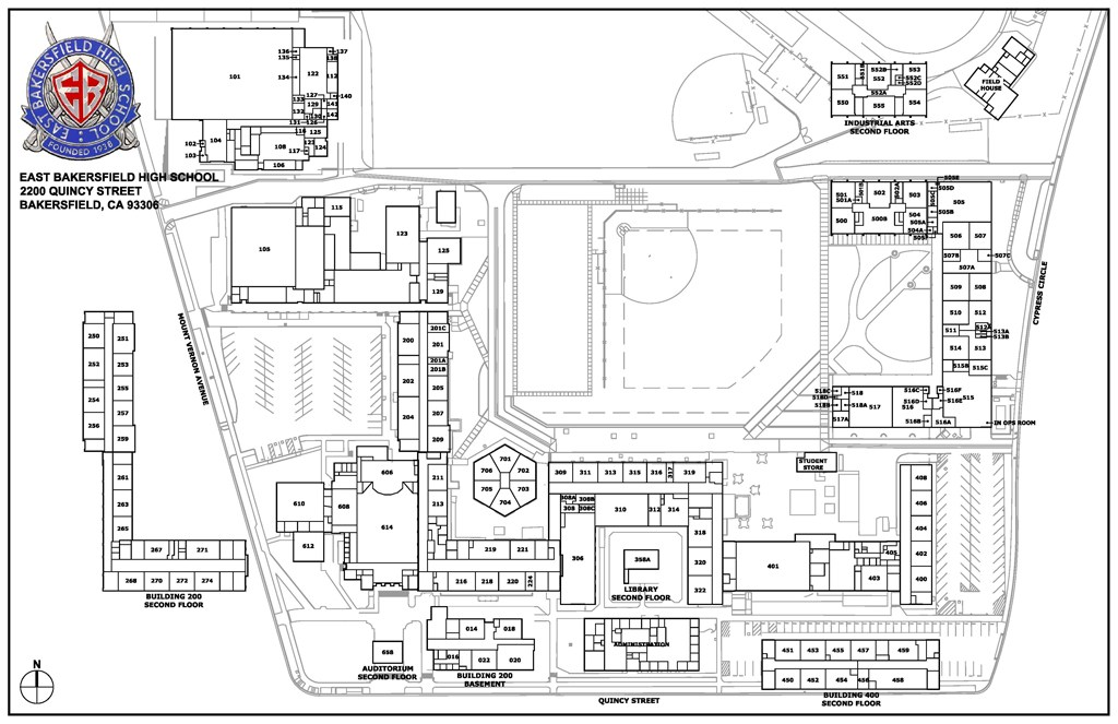 Campus Map – About – East Bakersfield High School
