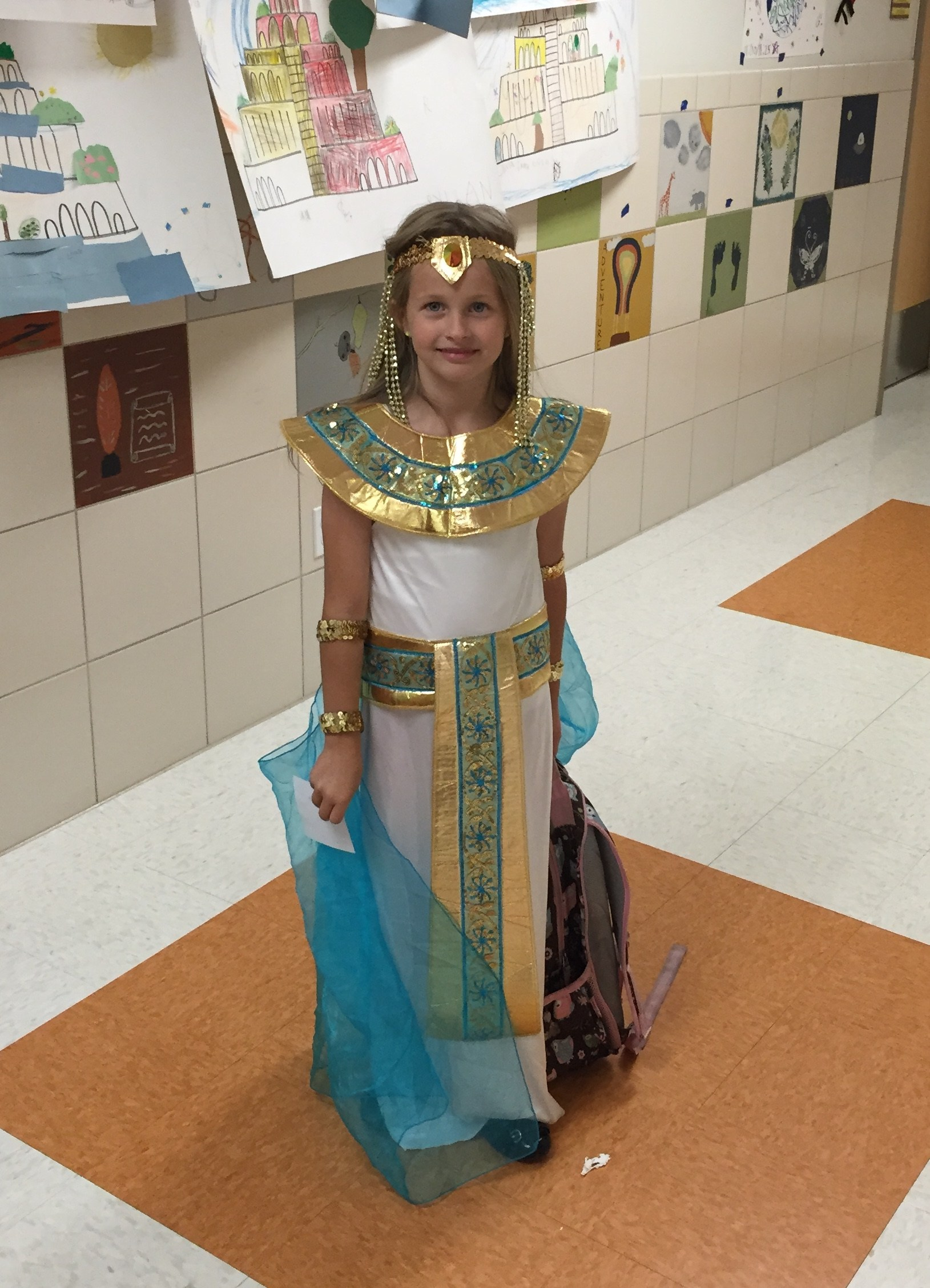 girl in an Egyptian costume