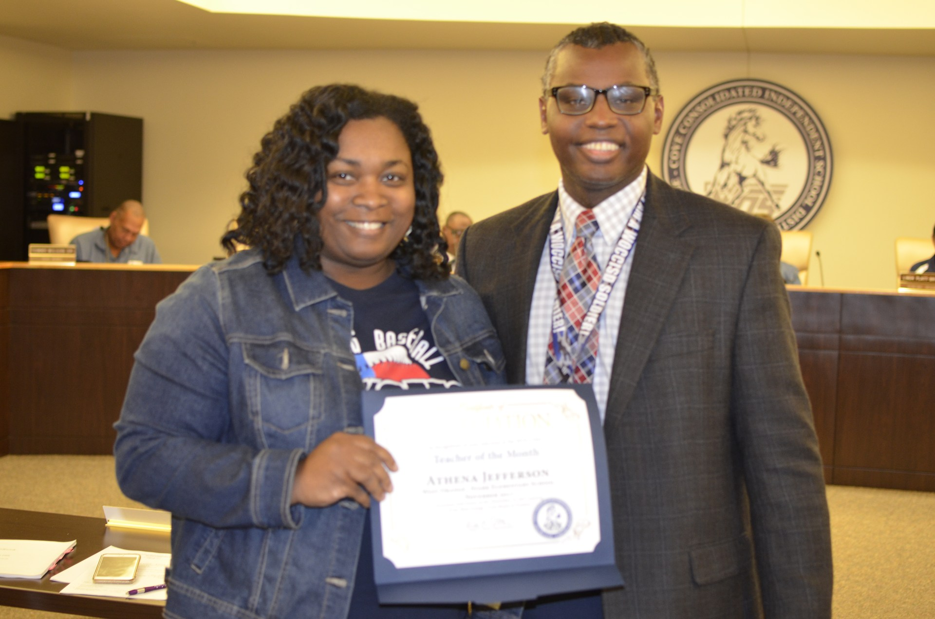 Athena Jefferson recognized as Teacher of the Month
