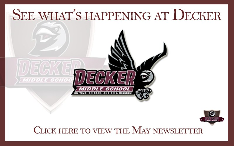Decker Middle School May Newsletter Thumbnail Image