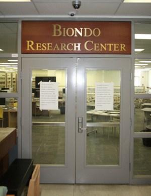 Biondo Research Center entrance