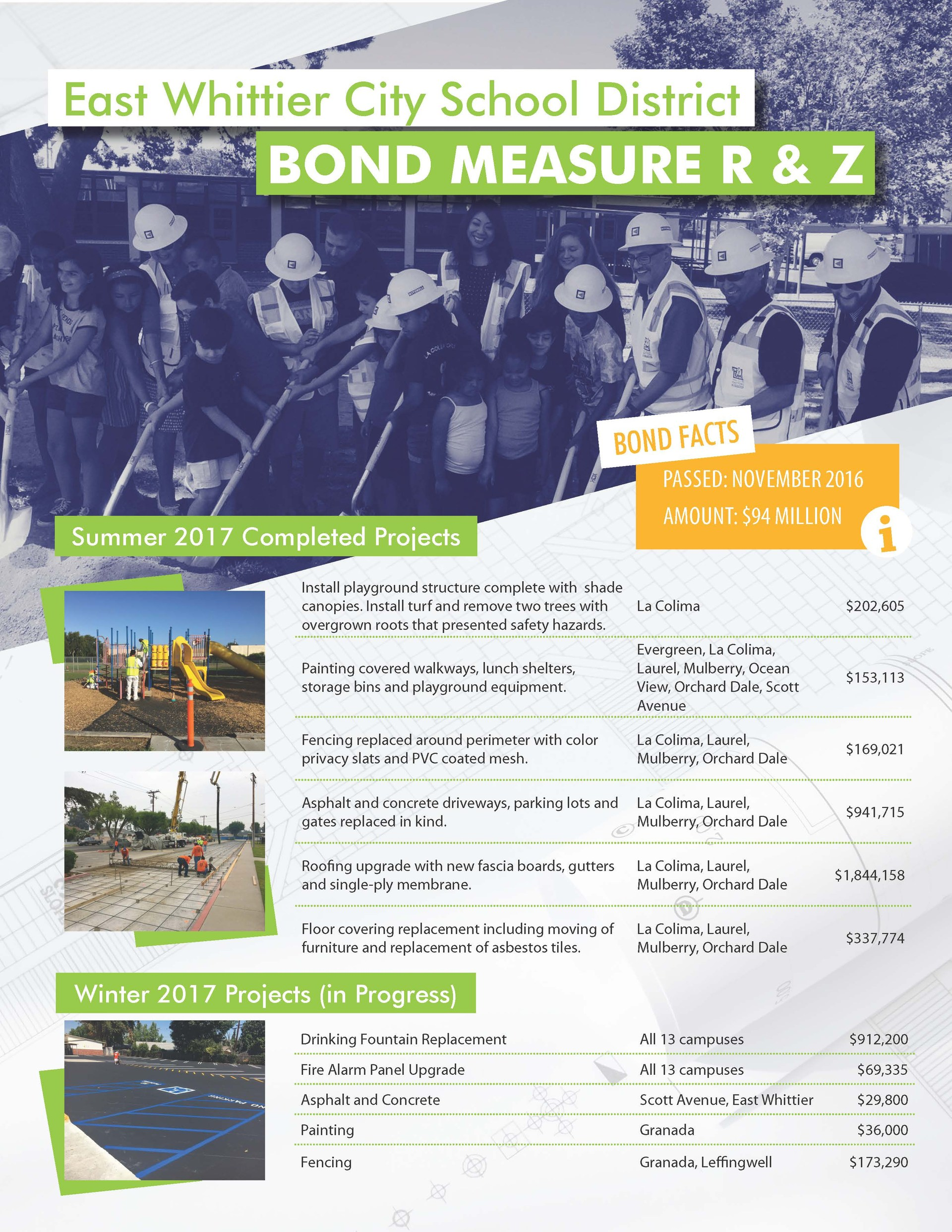 Bond Information Flyer page 1