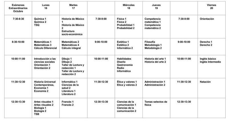 Calendario de Exámenes Extraordinarios Highschool Thumbnail Image