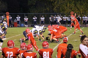 Photo of demons lined up in defensive position in the field