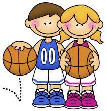 boy and girl holding basketball