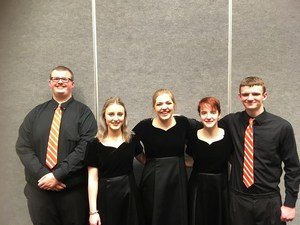 High School Choir students pictured at event