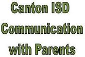Canton ISD Communication with Parents Logo