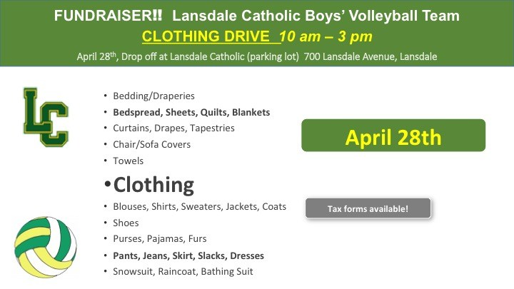 Boys Volleyball Clothing Drive Featured Photo