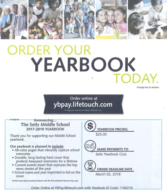 Seitz Yearbook Order Forms Featured Photo