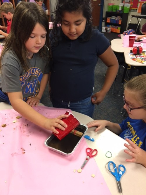 Making improvements and testing during STEM