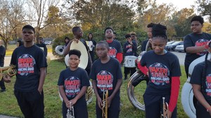 Photo of the Baker Middle School Band at the City of Baker 2017 Christmas Parade