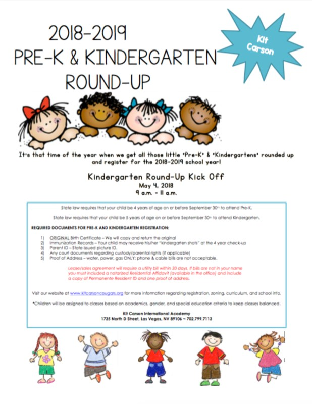 Time for Pre-K / Kindergarten Round Up Thumbnail Image