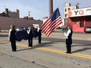 Marching Crusaders American Flag