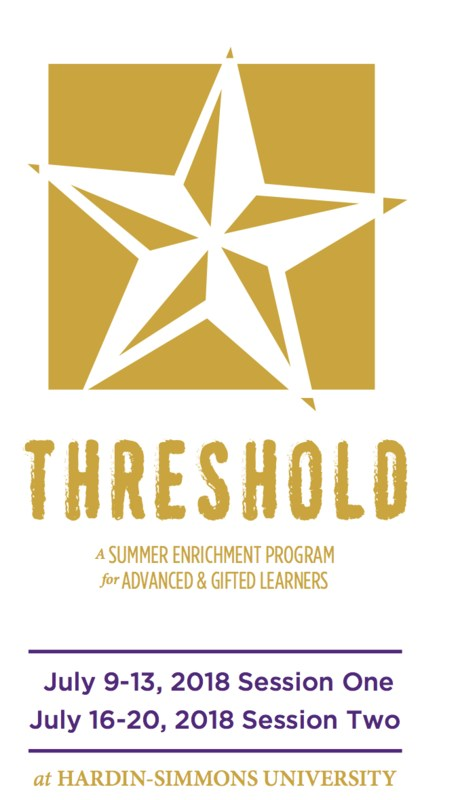 Snyder ISD Gifted & Talented students (entering grades 1-10) are eligible to attend Hardin Simmons University's Camp Threshold this summer. Featured Photo