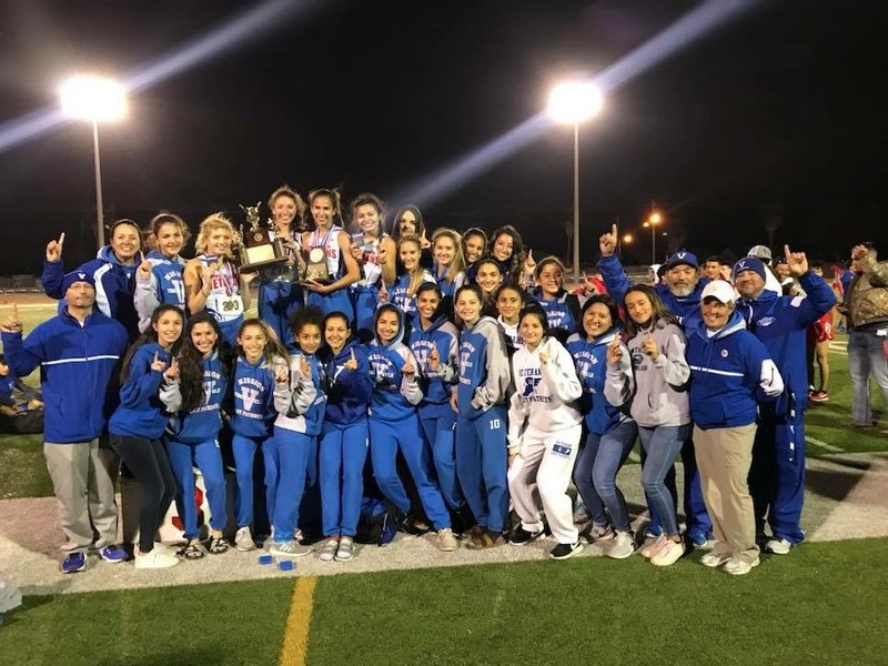 VMHS Lady Patriot Track Team and Coaches