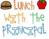 Lunch with Principal Clip Art