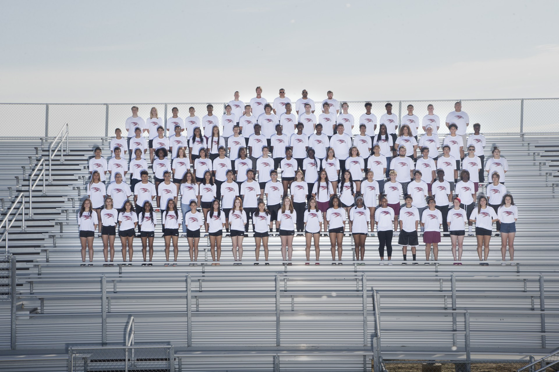 track and field team photo 2017