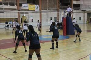RNA girls volleyball meet at Broadway Armory