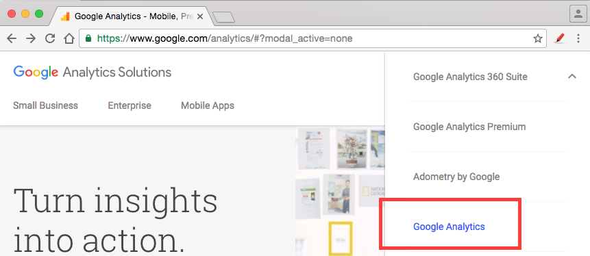 Go to www.google.com/analytics