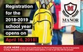 Registration for the 2018-19 School Year Opens on April 16 2018