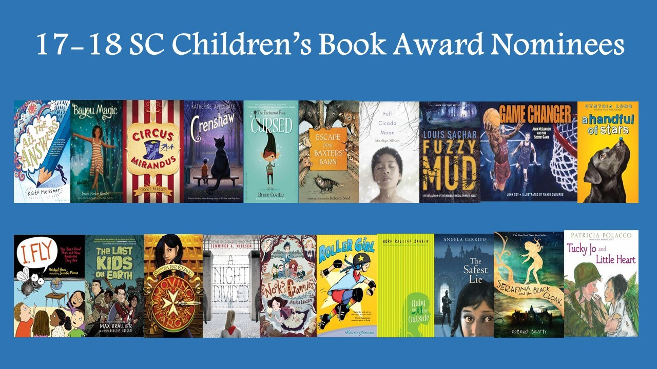 Pictures of book covers for SC Children's books award nominees