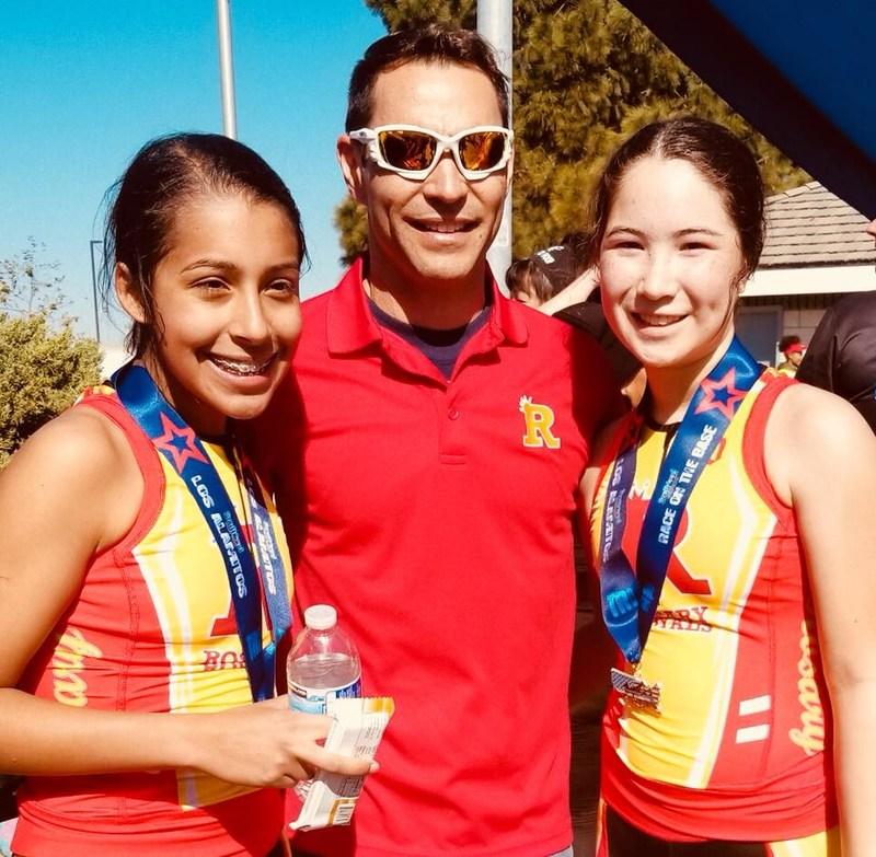 Triathletes compete in the Los Alamitos