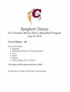 Mens Braves Basketball Program Spaghetti Dinner.png