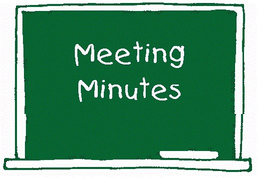 Meeting Minutes text on blackboard