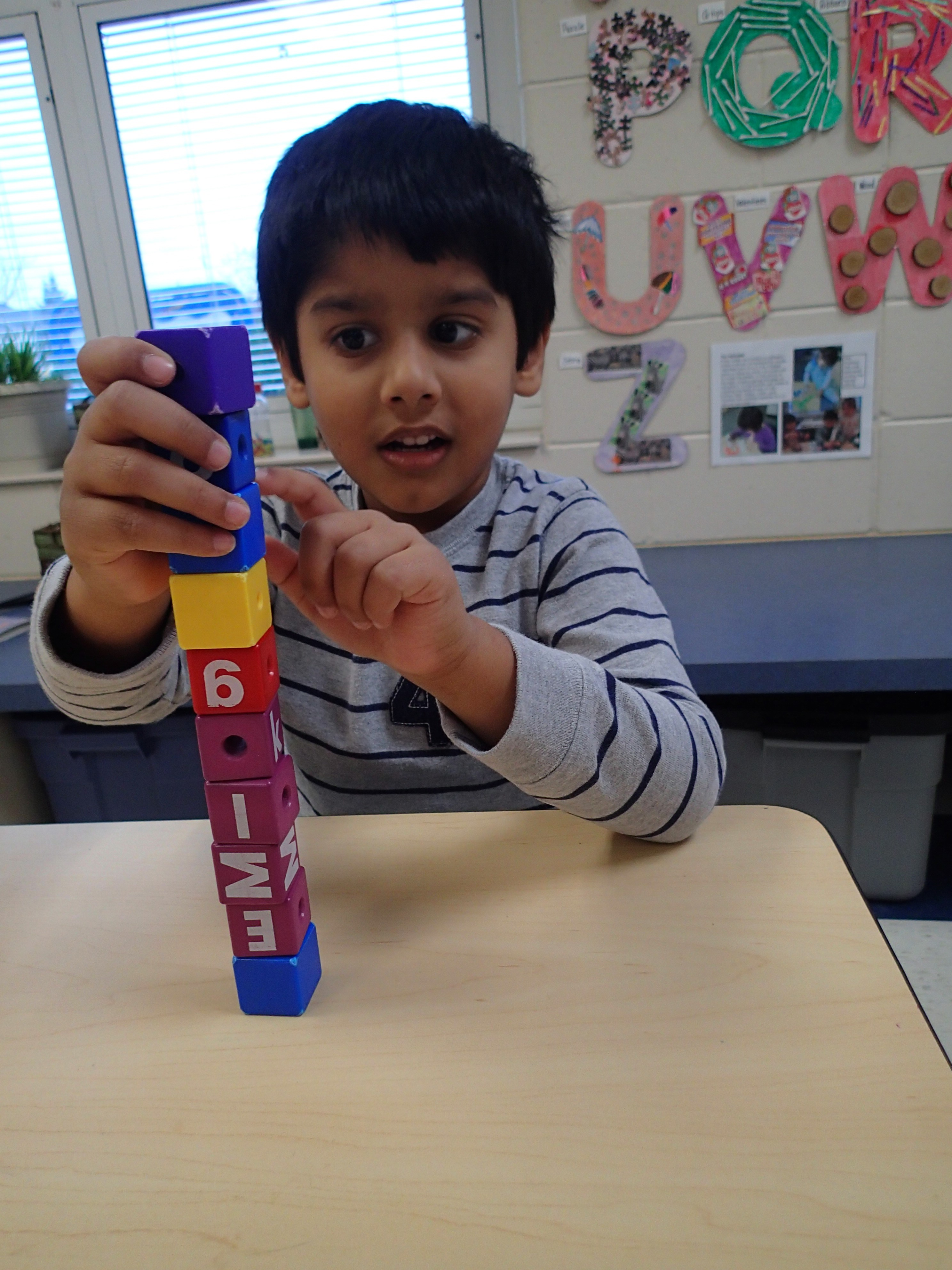 building a tower with blocks