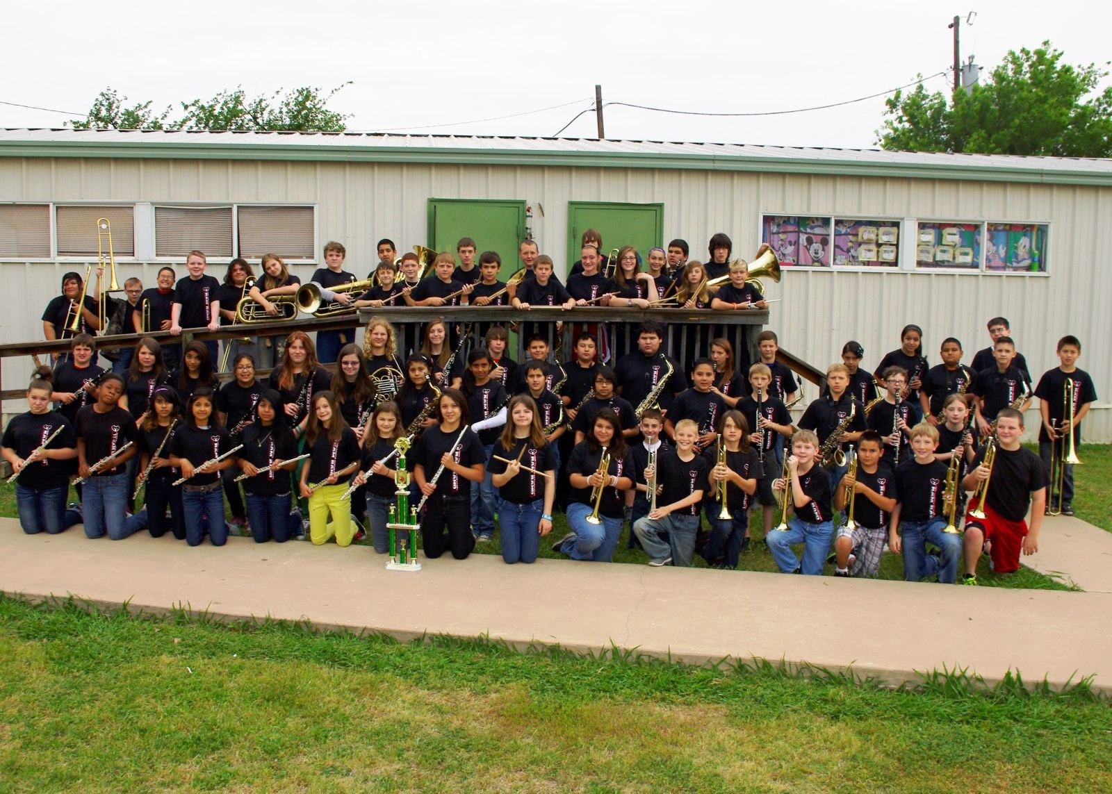 Travis Elementary Band members