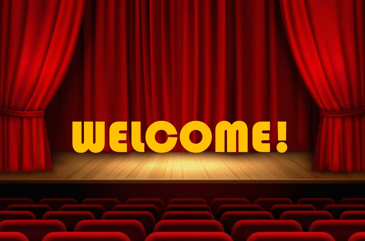 Theatre welcome banner