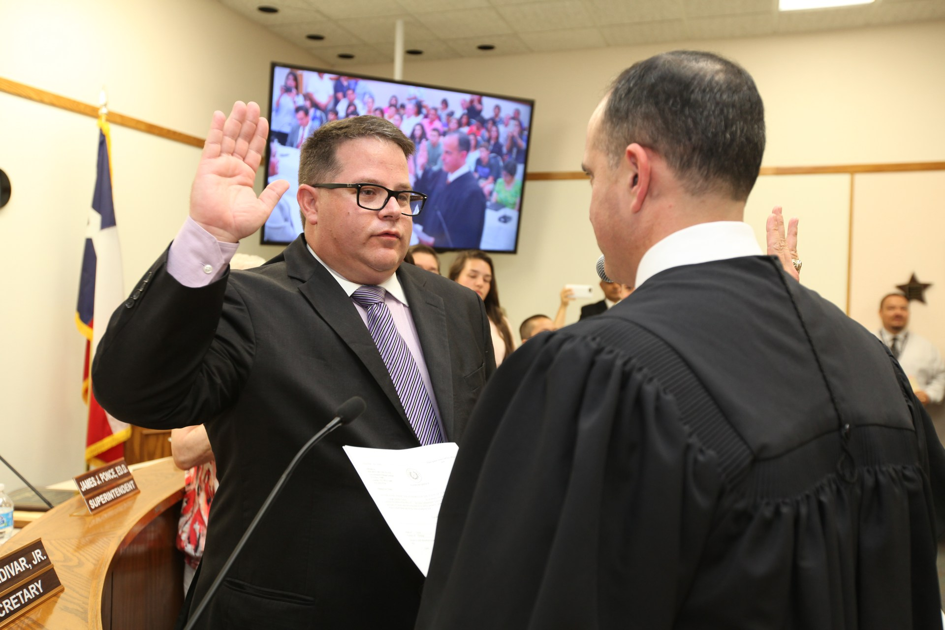 Swearing in of Tony Forina