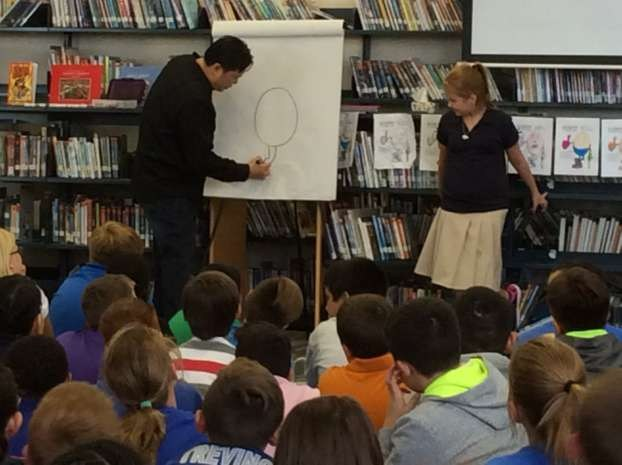 We hosted a special author visit event this year!