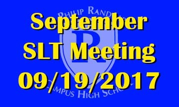 September SLT Meeting