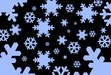 snowflake with blackbackground