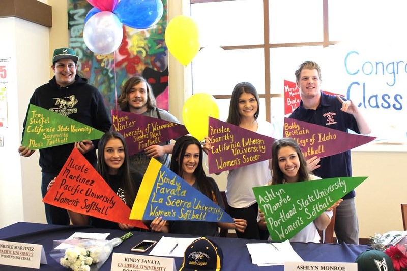 students who signed today for the college of their choice
