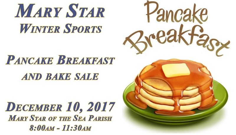 MSHS Winter Sports Mass, Pancake Breakfast and Bake Sale December 10th Featured Photo